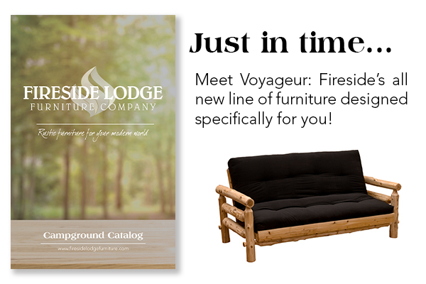 Furniture designed with campgrounds, RV parks, and cabin rentals in mind.